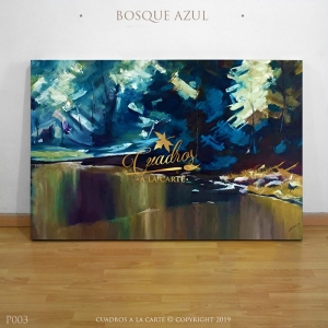 Decorative Oil Painting - Paisajes Bosque Azul