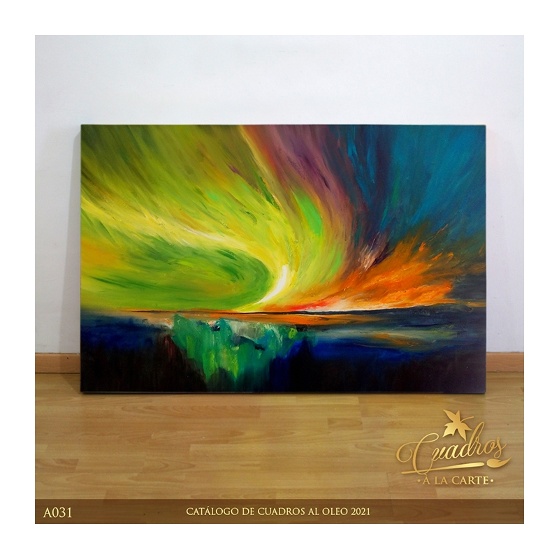 Decorative Oil Painting - Abstractos Aurora Boreal