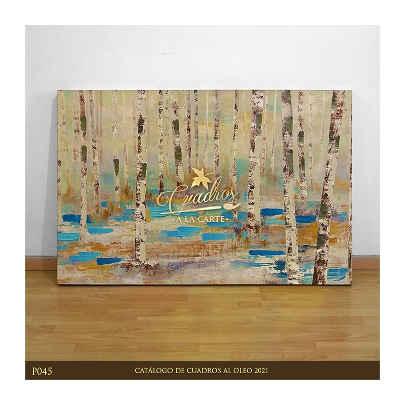 Decorative Oil Painting - Abstractos Invierno en el Bosque