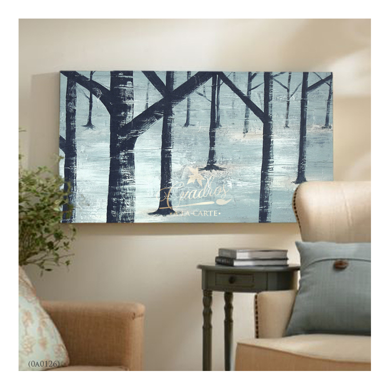 Decorative Oil Painting - Paisajes Bosque Nevado