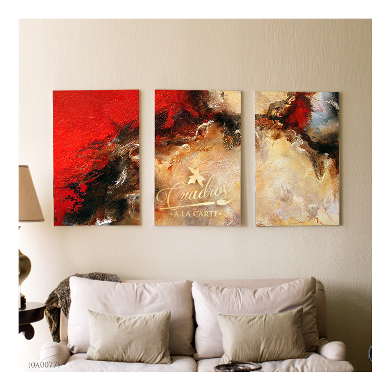 Decorative Oil Painting - Abstractos Rojo Atardecer