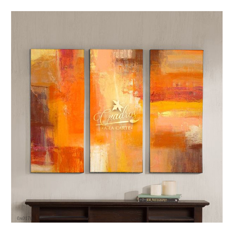 Decorative Oil Painting - Abstractos Naranja Dulce